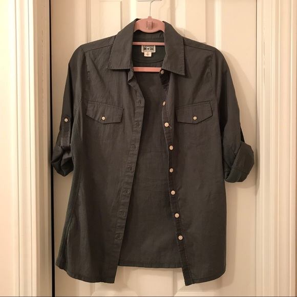 Converse - Army/olive green button down shirt from Alicia's closet ...
